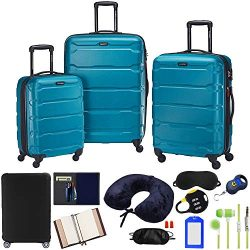 Samsonite Omni 3-Piece Nested Spinner Set – Caribbean Blue with Accessory Kit