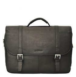 Samsonite Colombian Leather Flapover Case (one Size), Black