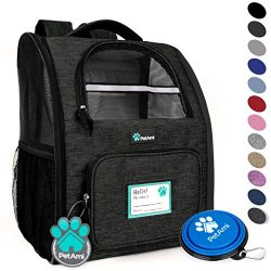 PetAmi Deluxe Pet Carrier Backpack for Small Cats and Dogs, Puppies | Ventilated Design, Two-Sid ...