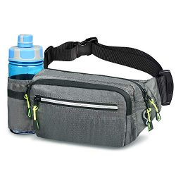 Aocharm Fanny Pack with Water Bottle Holder for Women Men Hiking Waist Bag Outdoors Walking Runn ...