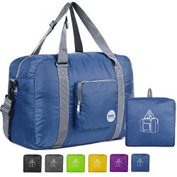 18″ Foldable Duffle Bag 30L for Travel Gym Sports Lightweight Luggage Duffel By WANDF, Nav ...