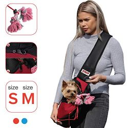 LUMAR Pet Sling Carrier for Dogs and The Only One Adapted Also for Car Seatbelt Connecting Safet ...