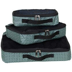 Ben Sherman 3-Piece (Small, Medium, Large) Lightweight Durable Printed Organizer Packing Cube Tr ...