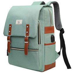 """Unisex College Bag Bookbags for Women Fits up to 15.6"""" Laptop Casual Rucksack School Backp ..."""
