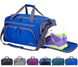 Venture Pal 20″ Packable Sports Gym Bag with Wet Pocket & Shoes Compartment Travel Duf ...