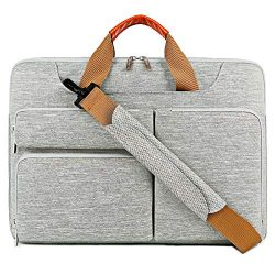 Lacdo 15.6 Inch Laptop Messenger Shoulder Bag, 360° Protective Sleeve Carrying Case Compatible 1 ...