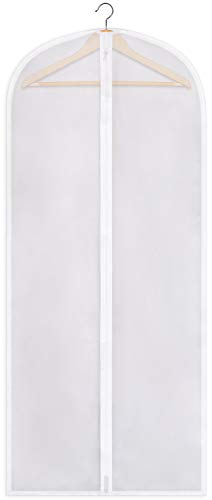 SteadMax Zippered Garment Bag, Large 53 x 23 inches, Heavyweight Dress Bag for Gowns, Suits, Jac ...