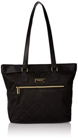 Kenneth Cole Reaction Women's New York Kc Street Jacquard 15″ Laptop Tote Black One Size