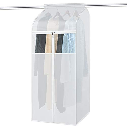 Zilink Large Garment Bags for Storage 54 inch Dust-Proof Hanging Garment Clothes Cover Suit Bags ...