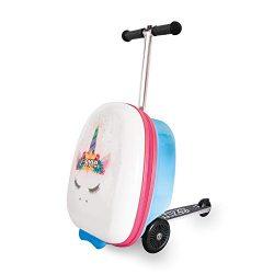 Zincflyte Kids Luggage Scooter 18″ – Chloe The Unicorn Scooter
