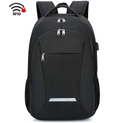XQXA Laptop Backpack, Travel Business Backpack for Men & Women with USB Charging Port, Water ...