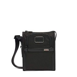 TUMI – Alpha 3 Small Pocket Crossbody Bag – Satchel for Men and Women – Black