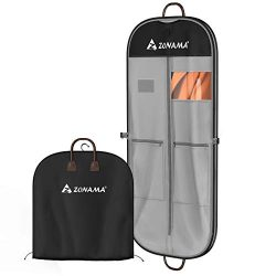 Garment Bag for Travel and Storage, 51 inch Washable Oxford Fabric Clothes Covers Anti-Moth Brea ...