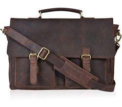 Clifton Heritage Laptop Messenger Bag – Big Strap Leather Briefcases for Men