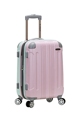 Rockland 20″ Expandable Carry On, Spinner Luggage, Bright Green