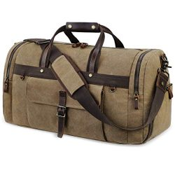 Travel Duffel Bag Waterproof Duffle Bags for Men Oversized Genuine Leather Carryon Weekend bag C ...
