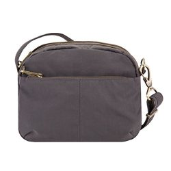 Travelon Anti-theft Signature E/W Shoulder Bag, Smoke