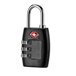 TSA Approved Luggage Locks, Black