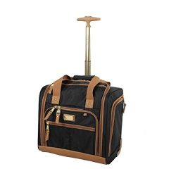 Steve Madden Luggage Wheeled Suitcase Under Seat Bag (Harlo Black)