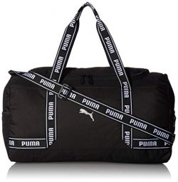PUMA Women's Commute Duffel, black/White, One Size