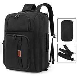 Srotek 17.3 inch Convertible Laptop Backpack Large Messenger Bag Shoulder Bag Business Briefcase ...