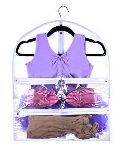 Small Clear Dance Garment Bag 19 inch x 24 inch Suit, Dress, and Costumes Hanging Travel Storage ...