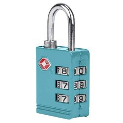 Travelon TSA Luggage Lock, Aqua