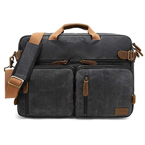 CoolBELL Laptop Messenger Bag Vintage Shoulder Bag Convertible Backpack Retro Briefcase Versatil ...