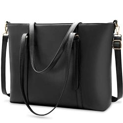 Laptop Bag for Women Lightweight Leather Work Tote Waterproof Business Office School Computer Ba ...