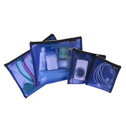 Travelon Set of 4 Mesh Pouches, Blue