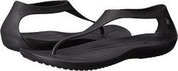 Crocs Women's Sexi Flip-Flop, Black/Black, 10 M US