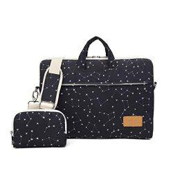 Canvaslife Black Star Pattern 15 inch Waterproof Laptop Shoulder Messenger Bag for 14 Inch to15. ...