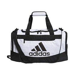 adidas Defender III Duffel Bag, White Two Tone/Black, Small