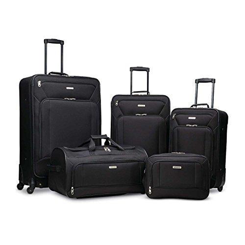 American Tourister Fieldbrook XLT Softside Luggage, Black, 5-Piece Set