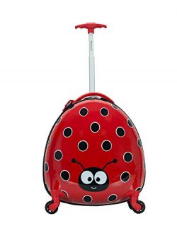 Rockland Jr. Kids' My First Luggage-Polycarbonate Hard Side Spinner, LADYBUG