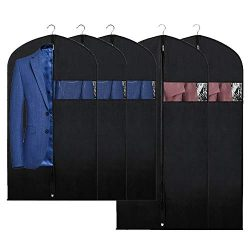 Syeeiex Garment Bag Suit Bags for Storage and Travel Dust Cover Breatbable Garment Bags for Long ...