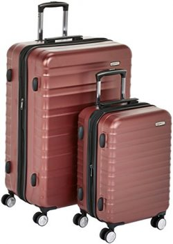 AmazonBasics Premium Hardside Spinner Luggage with Built-In TSA Lock – 2-Piece Set (21R ...
