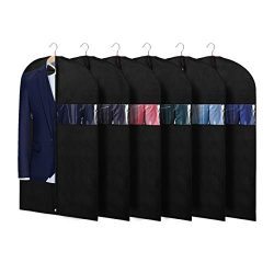 KEEGH Suit Bags Garment Cover Bag for Storage and Travel 40 Inch (Set of 6) Protect Dress Shirts ...