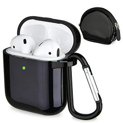 Airpods Accessories Set, Filoto Airpods Water Resistant TPU Case Cover with Keychain/Strap/Earho ...