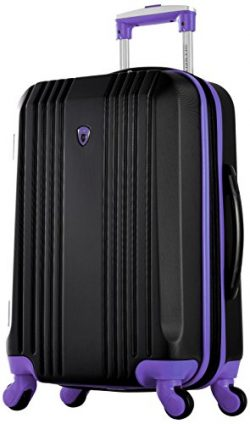 Olympia Apache Ii 21″ Carry-on Spinner, BLACK+PURPLE