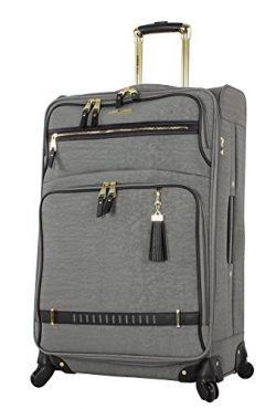 Steve Madden Luggage Large 28″ Expandable Softside Suitcase With Spinner Wheels (28in, Pee ...