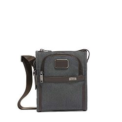 TUMI – Alpha 3 Small Pocket Crossbody Bag – Satchel for Men and Women – Anthracite
