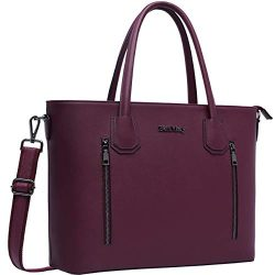Laptop Bag,15.6-17 Inch Laptop Tote Bag for Women Large Work Tote Bag-Darkpurple 17in