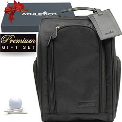 Athletico Executive Golf Shoe Bag with Luggage Tag (Black)