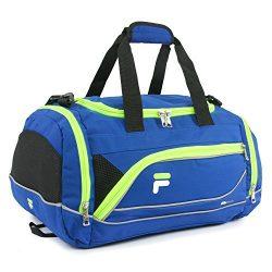 Fila Sprinter 19″ Sport Duffel Bag, Blue/Neon