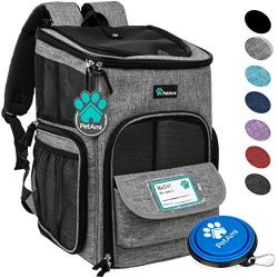 PetAmi Pet Carrier Backpack for Small Cats, Dogs, Puppies | Airline Approved | Ventilated, 4 Way ...