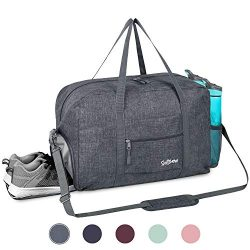 Sports Gym Bag with Wet Pocket & Shoes Compartment, Travel Duffel Bag for Men and Women Ligh ...