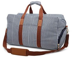 Gimay Canvas Duffel Bag Overnight Bag for Men and Women Weekender Tote Bag with Shoe Compartment ...