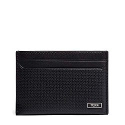 TUMI – Monaco Slim Card Case Wallet for Men – Black