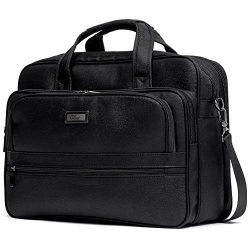Briefcase for Men Laptop Bag 15.6 Inch Business Large Capacity Travel Canvas Water-Resistant Com ...
